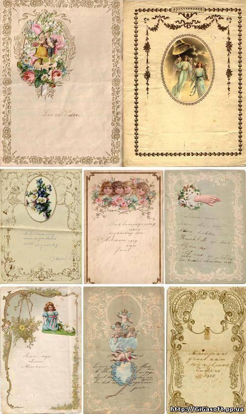 Фон для фотошопа старинные открытки